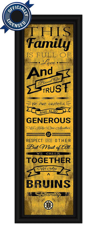 Bruins Family Cheer Print - Officially Licensed