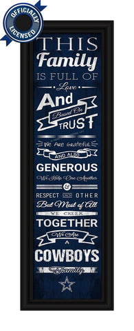 Cowboys Family Cheer Print - Officially Licensed