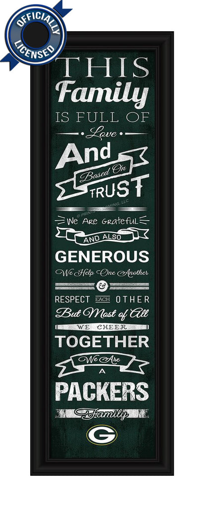 Packers Family Cheer Print - Officially Licensed