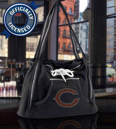 Officially Licensed Bears Hoodie Purse (Black)