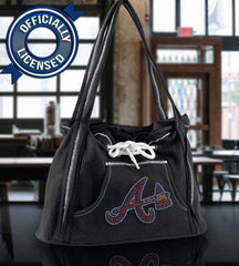 Officially Licensed Braves Hoodie Purse (Black)