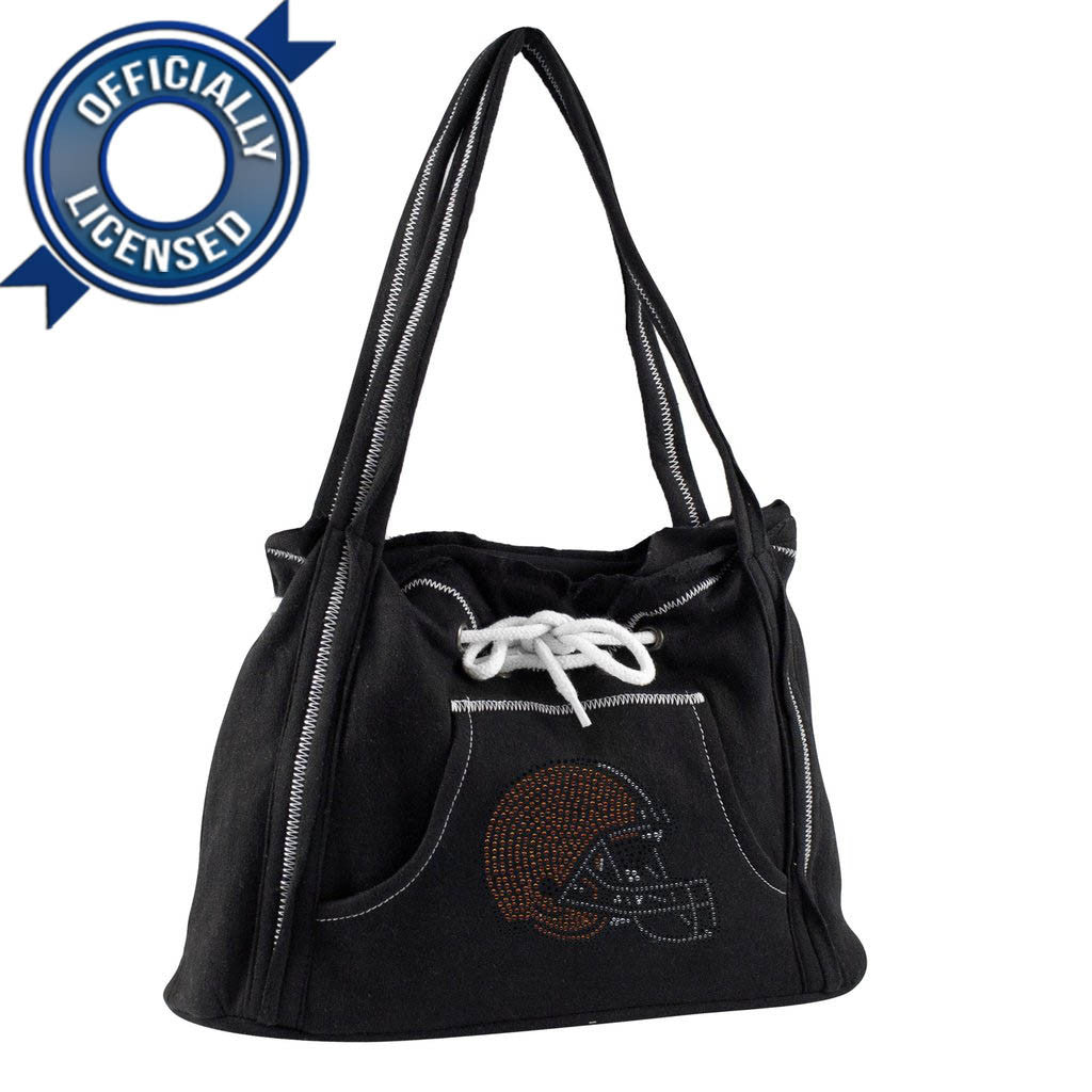 Officially Licensed Browns Hoodie Purse (Black)