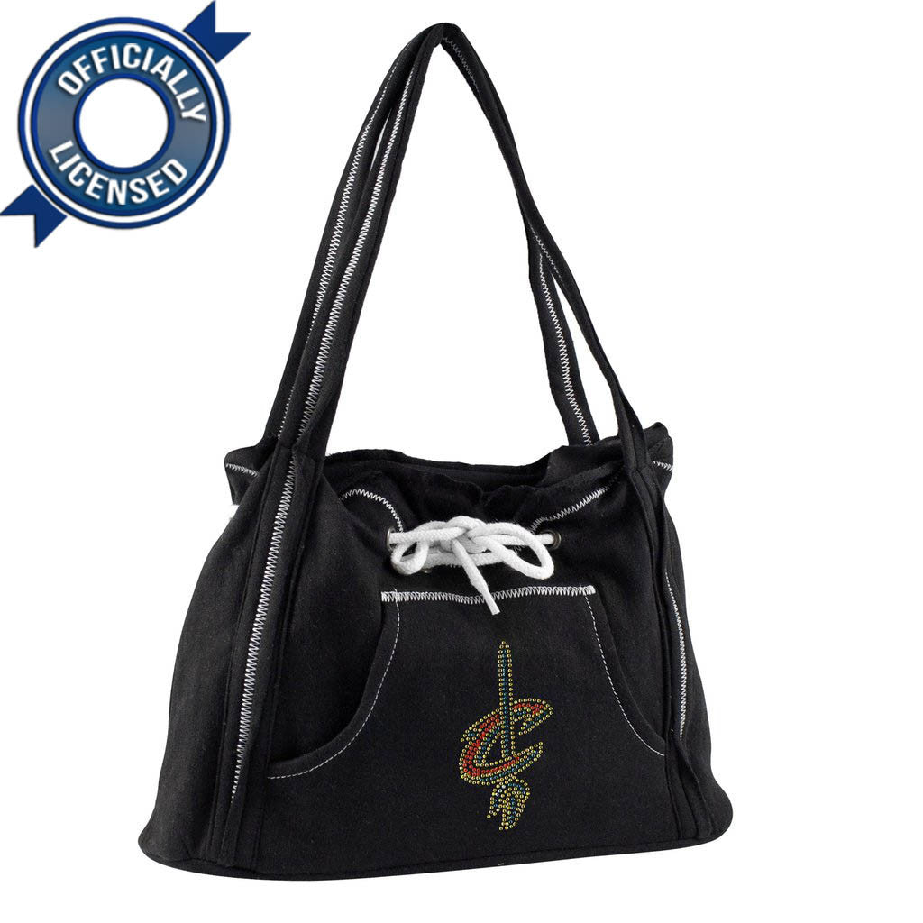 Officially Licensed Cleveland Cavaliers Hoodie Purse (Black)