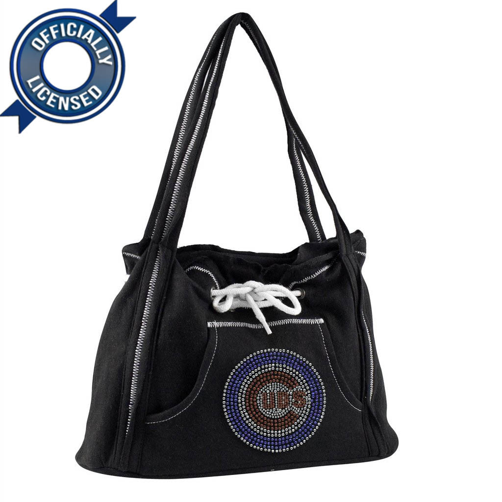 Officially Licensed Cubs Hoodie Purse (Black)