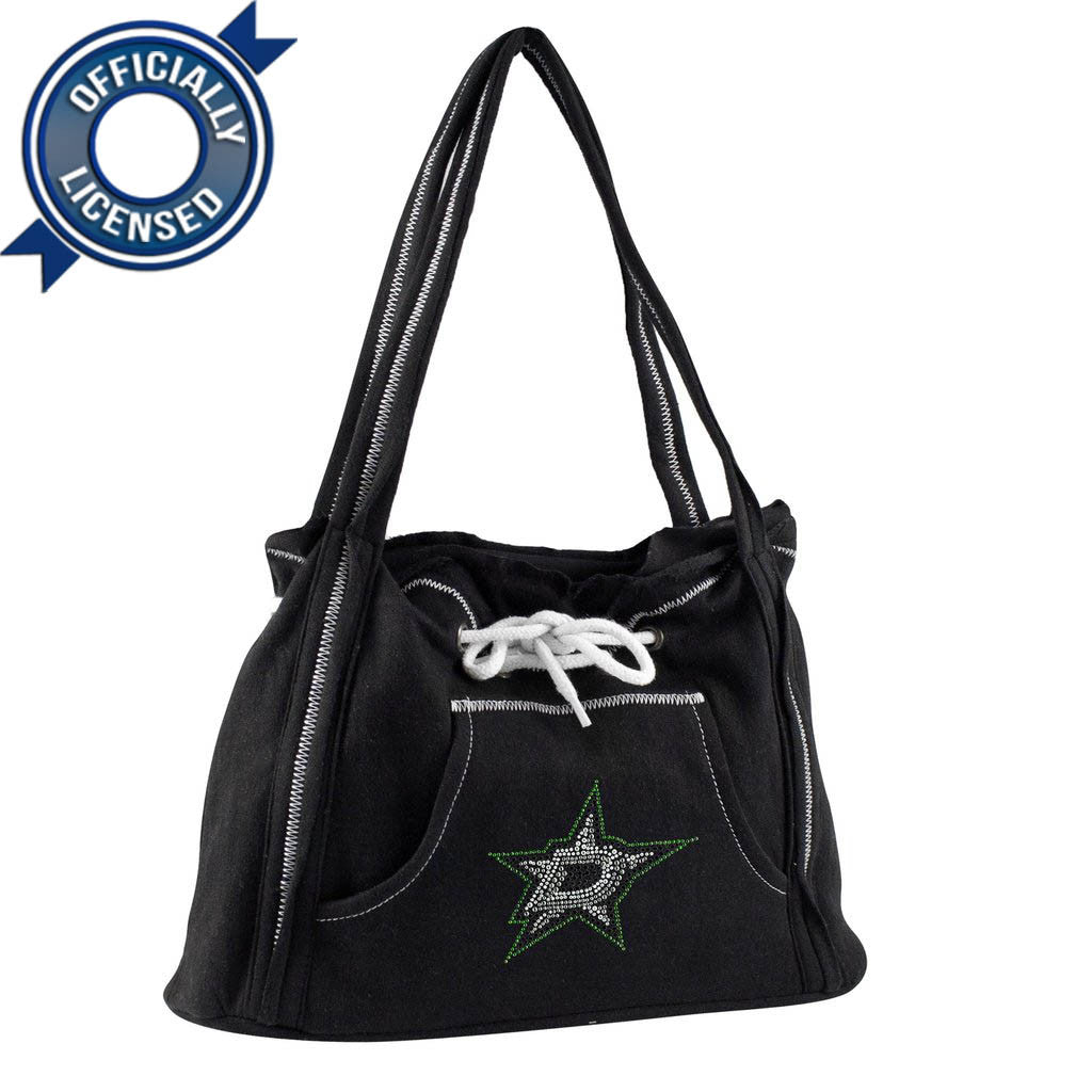 Officially Licensed Dallas Stars Hoodie Purse (Black)