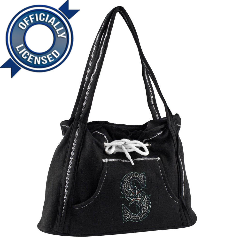 Officially Licensed Mariners Hoodie Purse (Black)