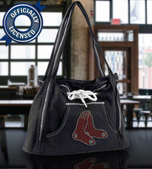 Officially Licensed Red Sox Hoodie Purse (Black)