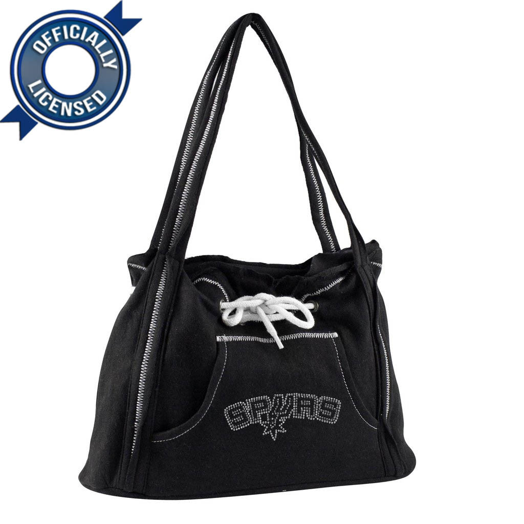 Officially Licensed San Antonio Spurs Hoodie Purse (Black)