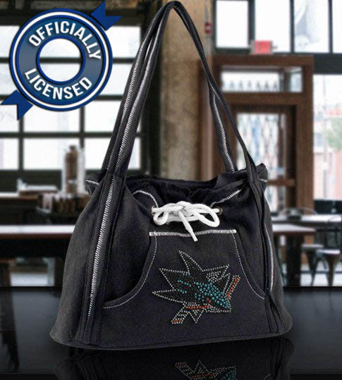 Officially Licensed Sharks Hoodie Purse (Black)