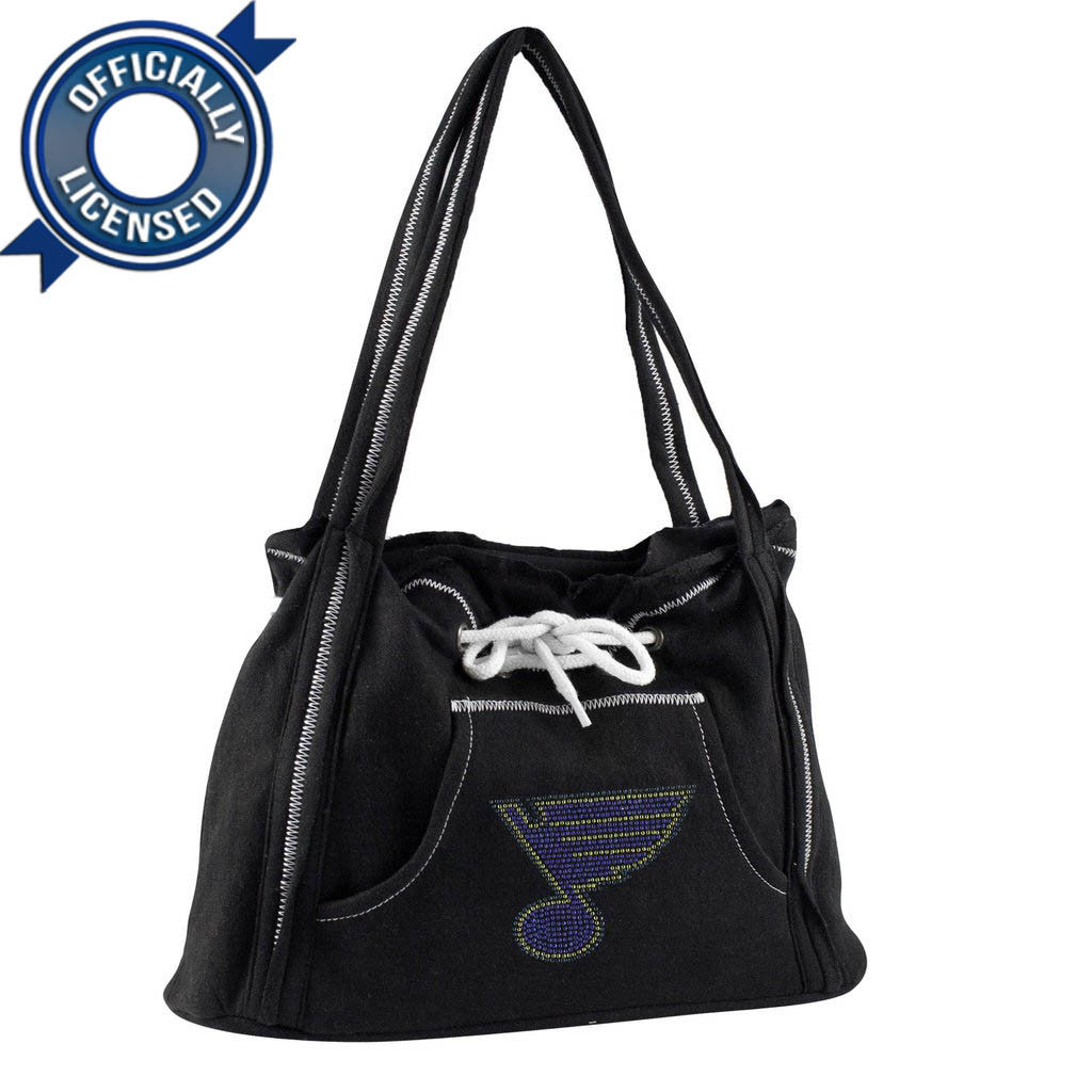 Officially Licensed St Louis Blues Hoodie Purse (Black)