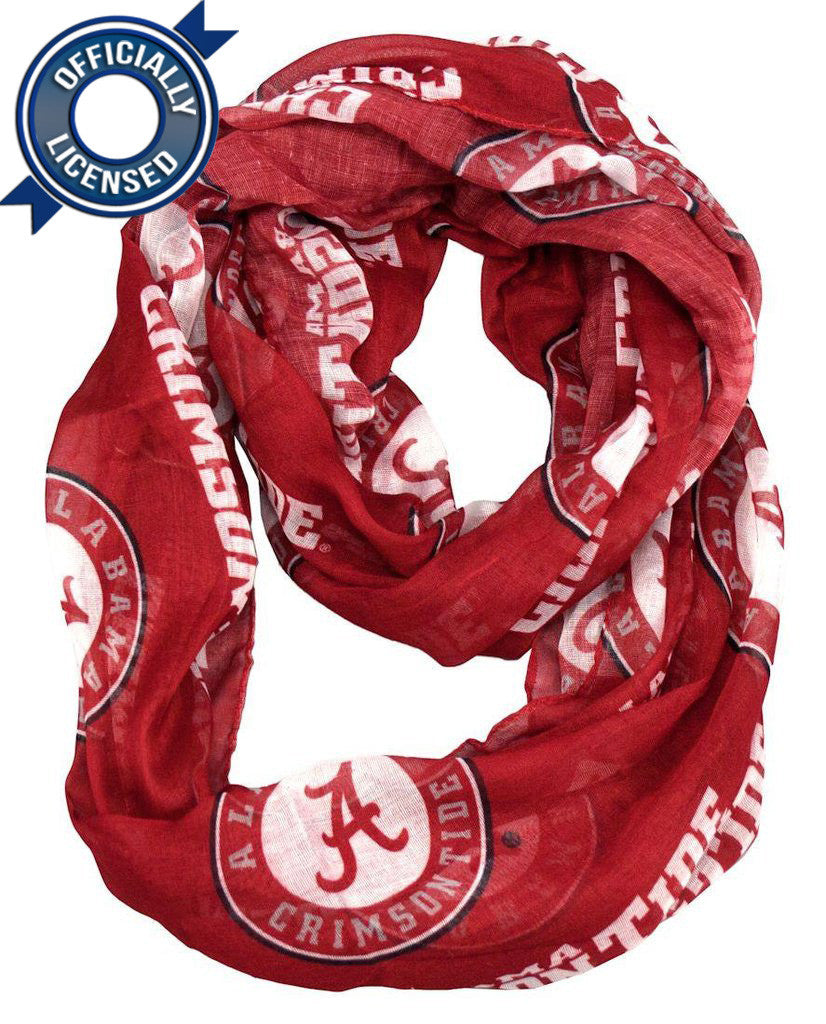 Officially Licensed Alabama Infinity Scarf