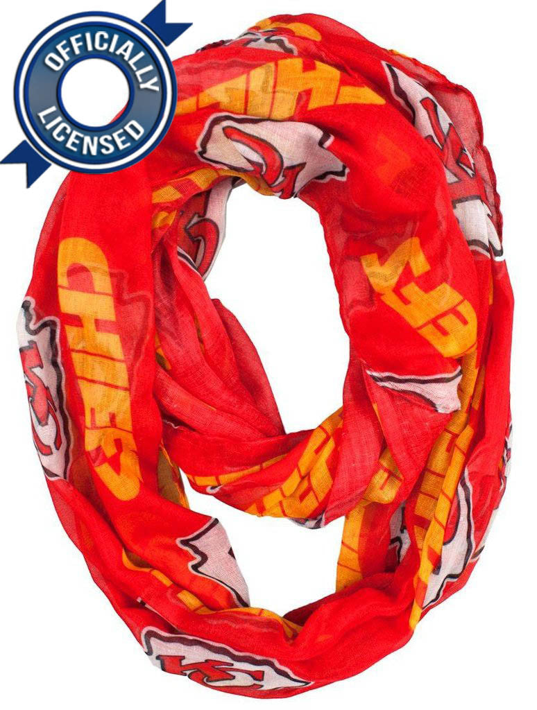 Officially Licensed Chiefs Infinity Scarf