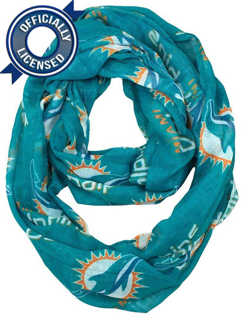 Officially Licensed Dolphins Infinity Scarf
