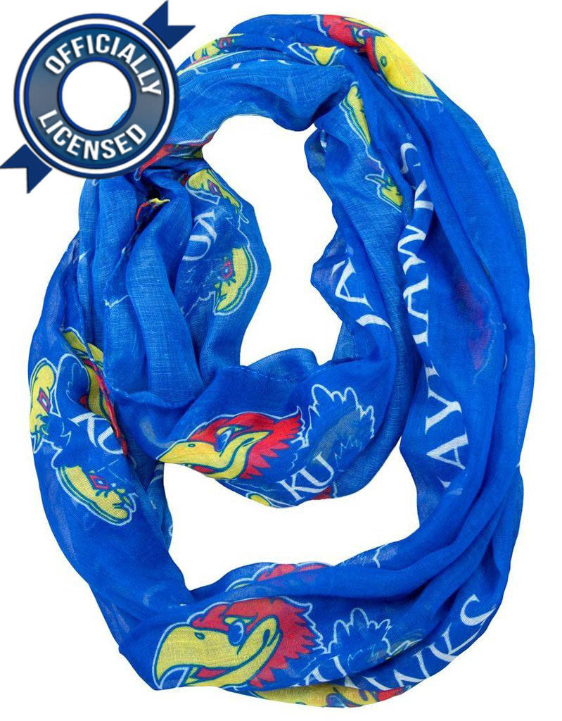 Officially Licensed Jayhawks Infinity Scarf