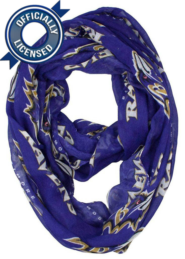 Officially Licensed Ravens Infinity Scarf
