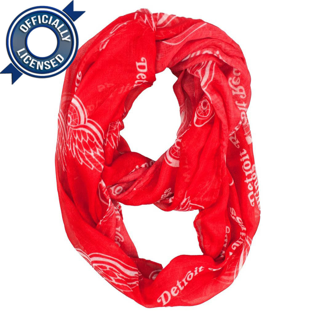 Officially Licensed Red Wings Infinity Scarf