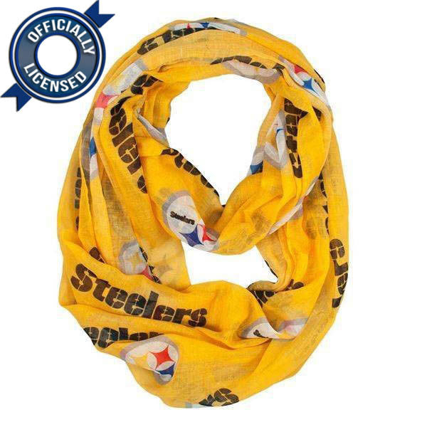 Officially Licensed Steelers Infinity Scarf