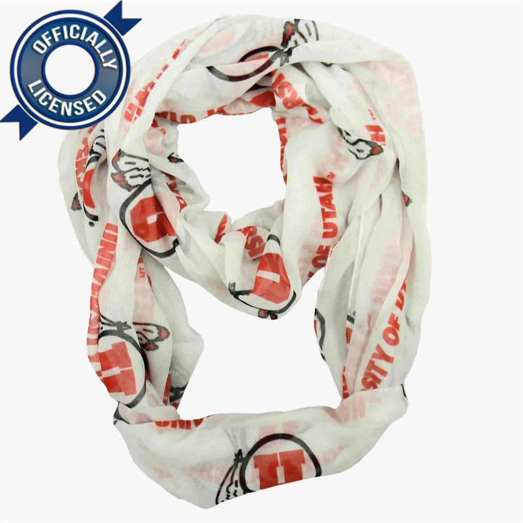 Officially Licensed Utah Utes Infinity Scarf