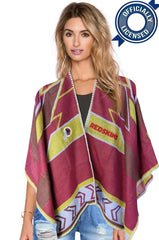 Whipstitch Scarf Poncho - Officially Licensed Washington Redskins Lightweight Scarf Poncho