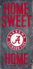 Wood Sign - Officially Licensed Alabama Football Home Sweet Home Sign