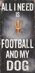 Wood Sign - Officially Licensed Arizona State Sun Devils Football And Dog Sign