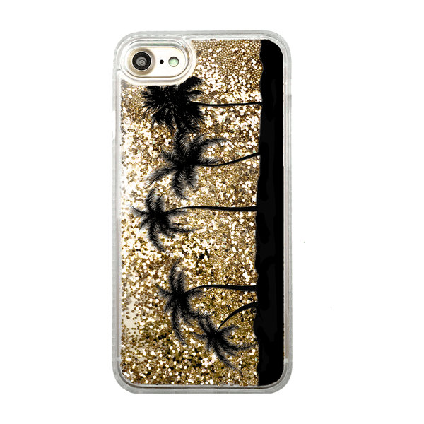 Gold Glitter Palm Trees iPhone Case