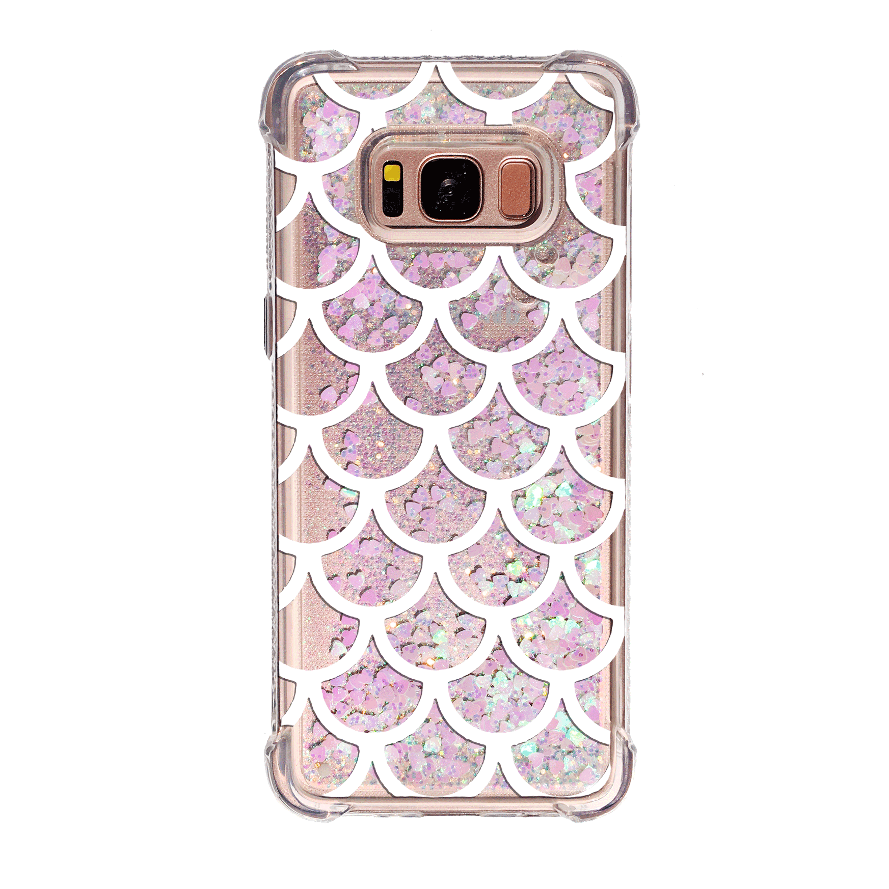 Mermaid Scales Pink Glitter Galaxy Phone Case