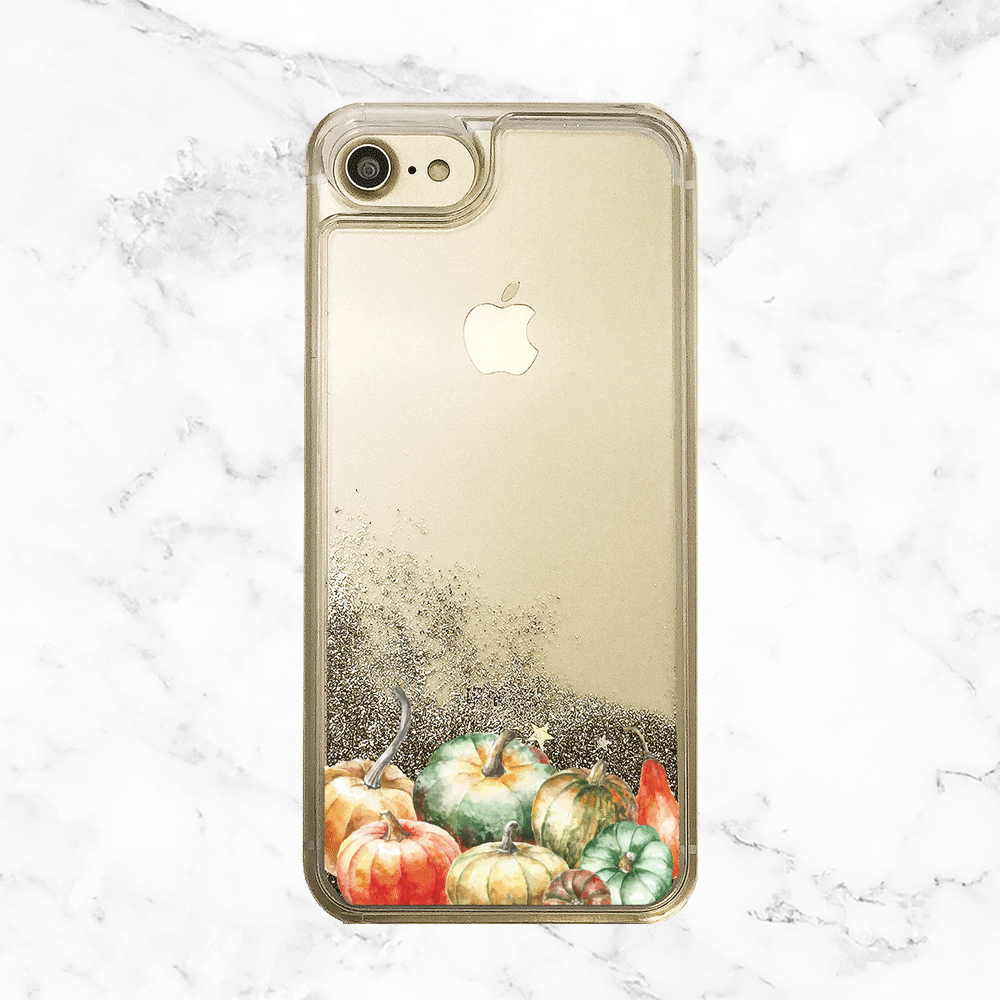 Fall Pumpkins Gold Glitter iPhone Case