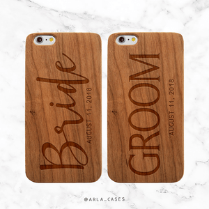 Personalized Bride and Groom Wedding Phone Cases