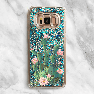Prickly Pear Cactus - Glitter Samsung Galaxy Case