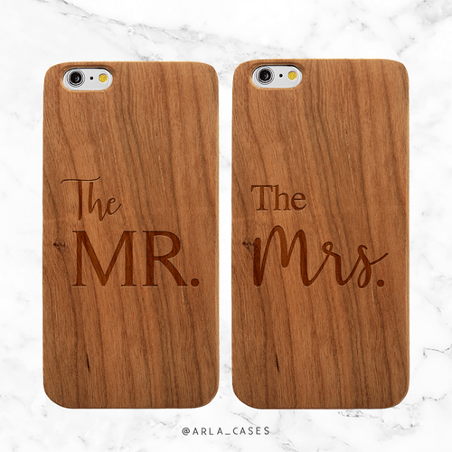 Mr and Mrs Newlywed Set Phone Cases