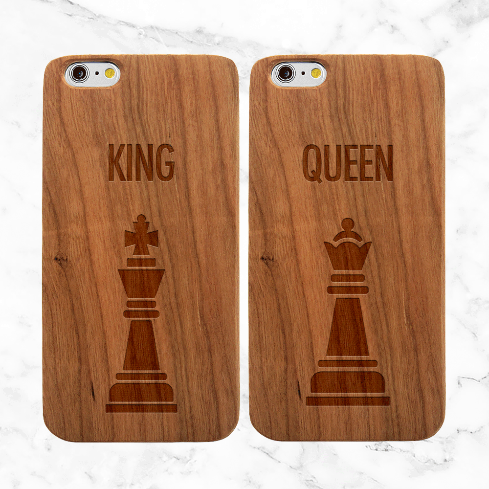 King and Queen Matching Phone Cases for Couples