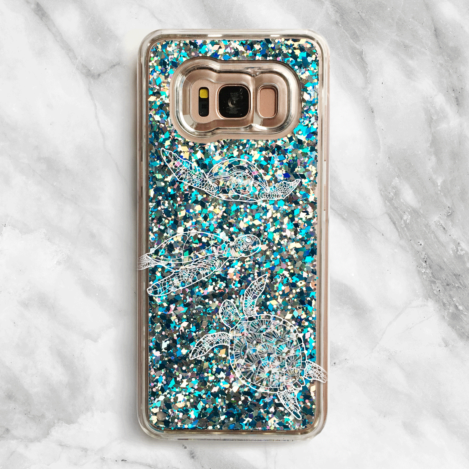 Glitter Samsung Sea Turtles