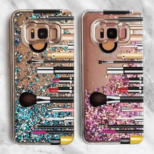 Makeup Artist Samsung Galaxy Liquid Glitter Phone Case