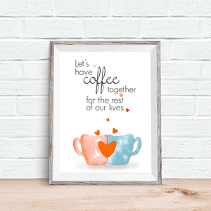 Coffee Together Printable Wall Art