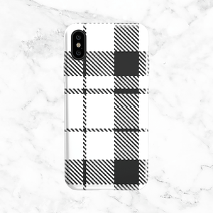 White Plaid Phone Case