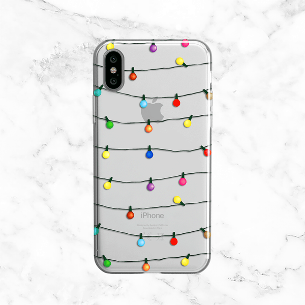 Christmas Lights iPhone X Phone Case
