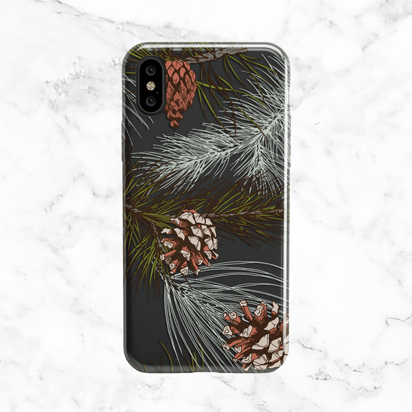 Winter Pine Tree Design