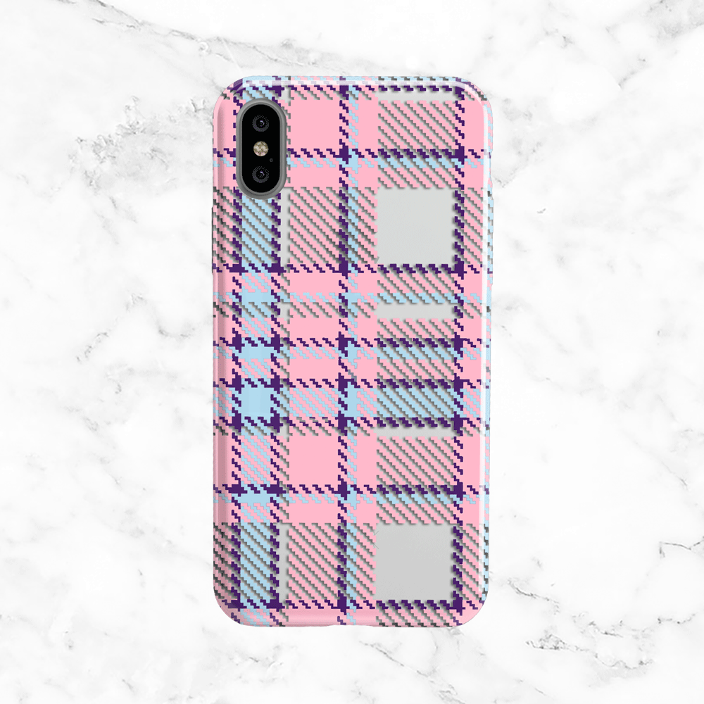 Pink Plaid Phone Case - Clear Print TPU Cover