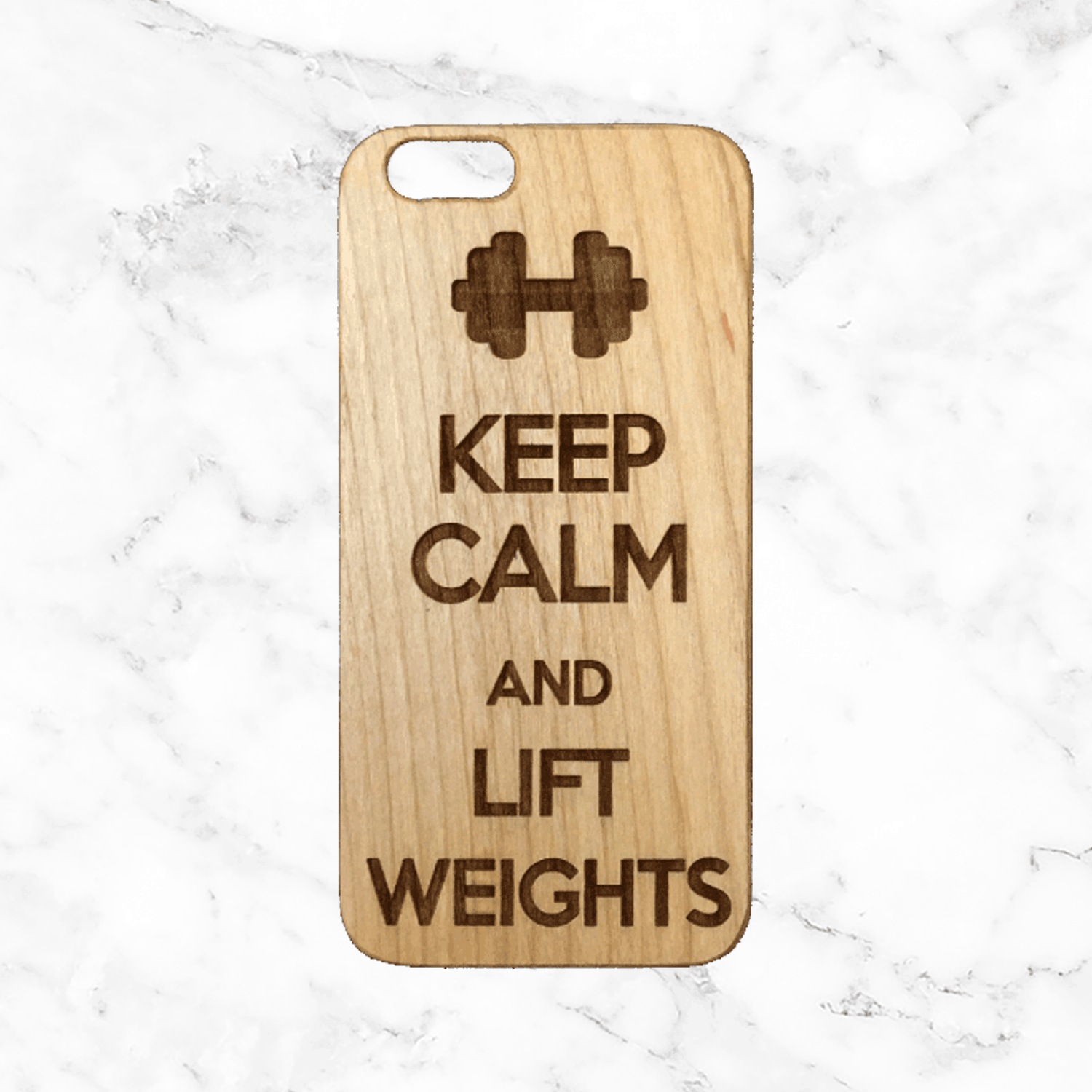 Keep Calm and Lift Weights - Body Buidling / Gym Wood Phone Case