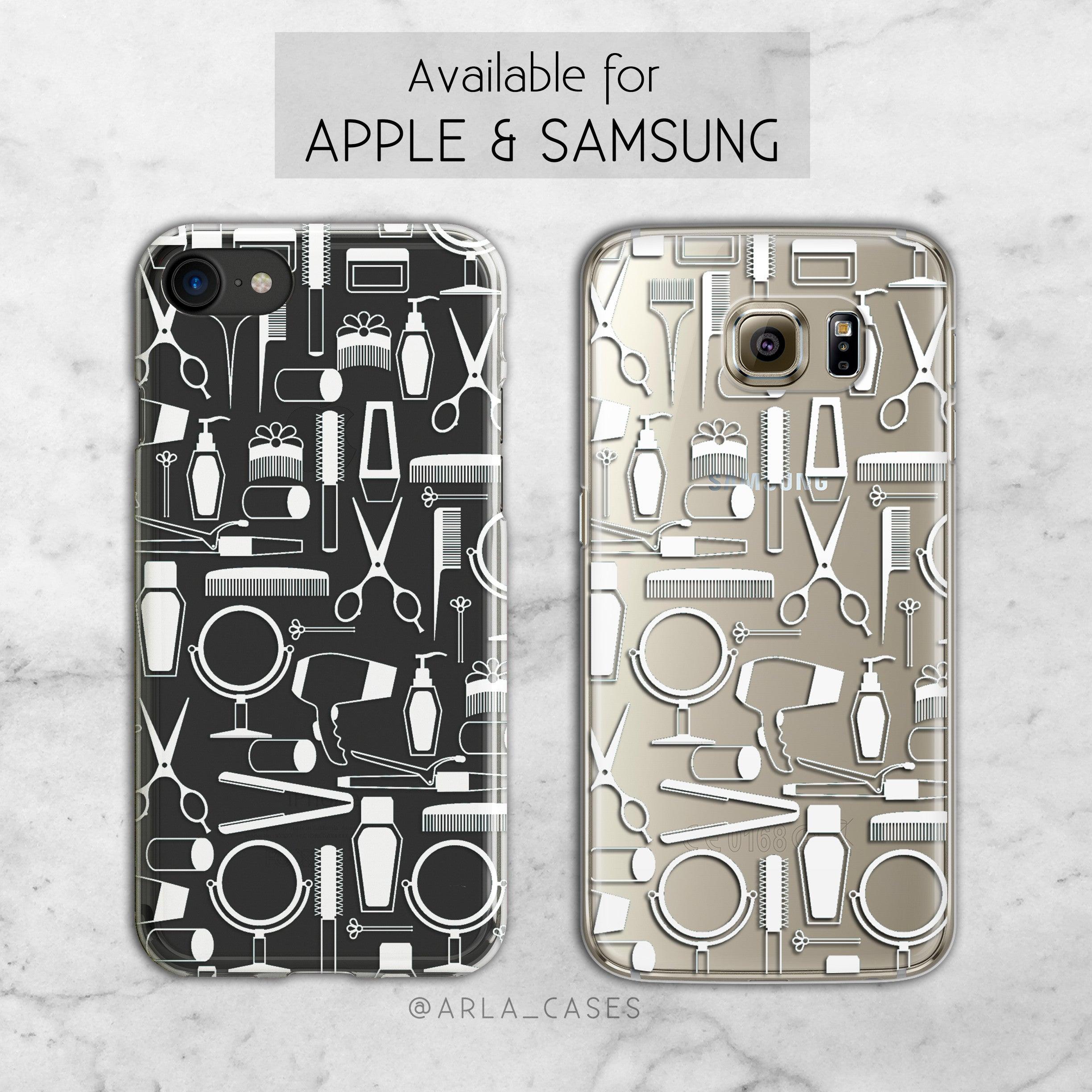 Hair Stylist - Clear TPU iPhone and Galaxy Phone Case
