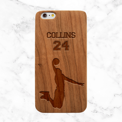 Personalized Basketball Wood Phone Case