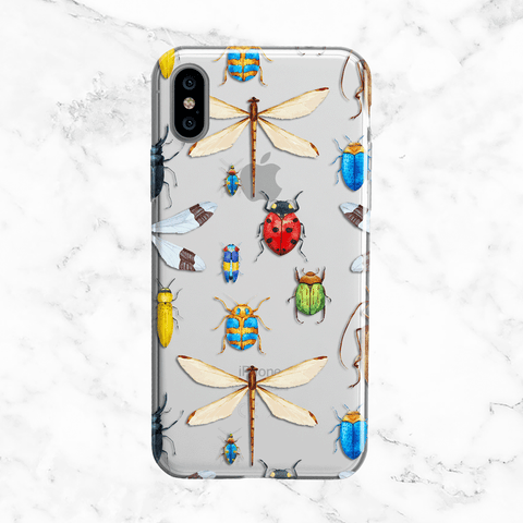Insect and Bug Collection - Clear TPU Phone Case with Design