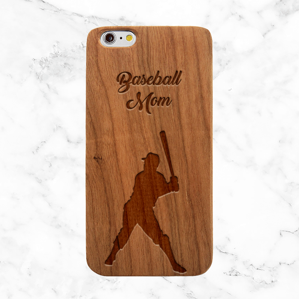 Personalized Baseball Player Wood Phone Case