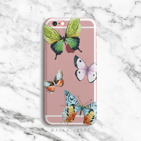 Butterflies Clear iPhone and Galaxy Phone Case