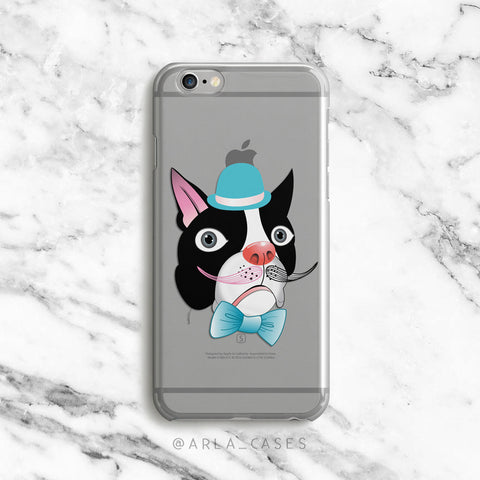 Fancy Dog on Clear Printed iPhone Case