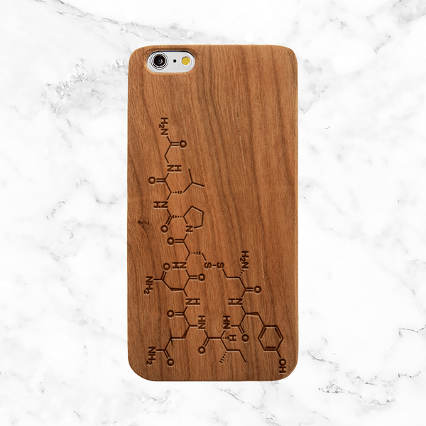 Oxytocin Wood Phone Case - Love Compound - Science of Love -  Wood iPhone / Galaxy Case