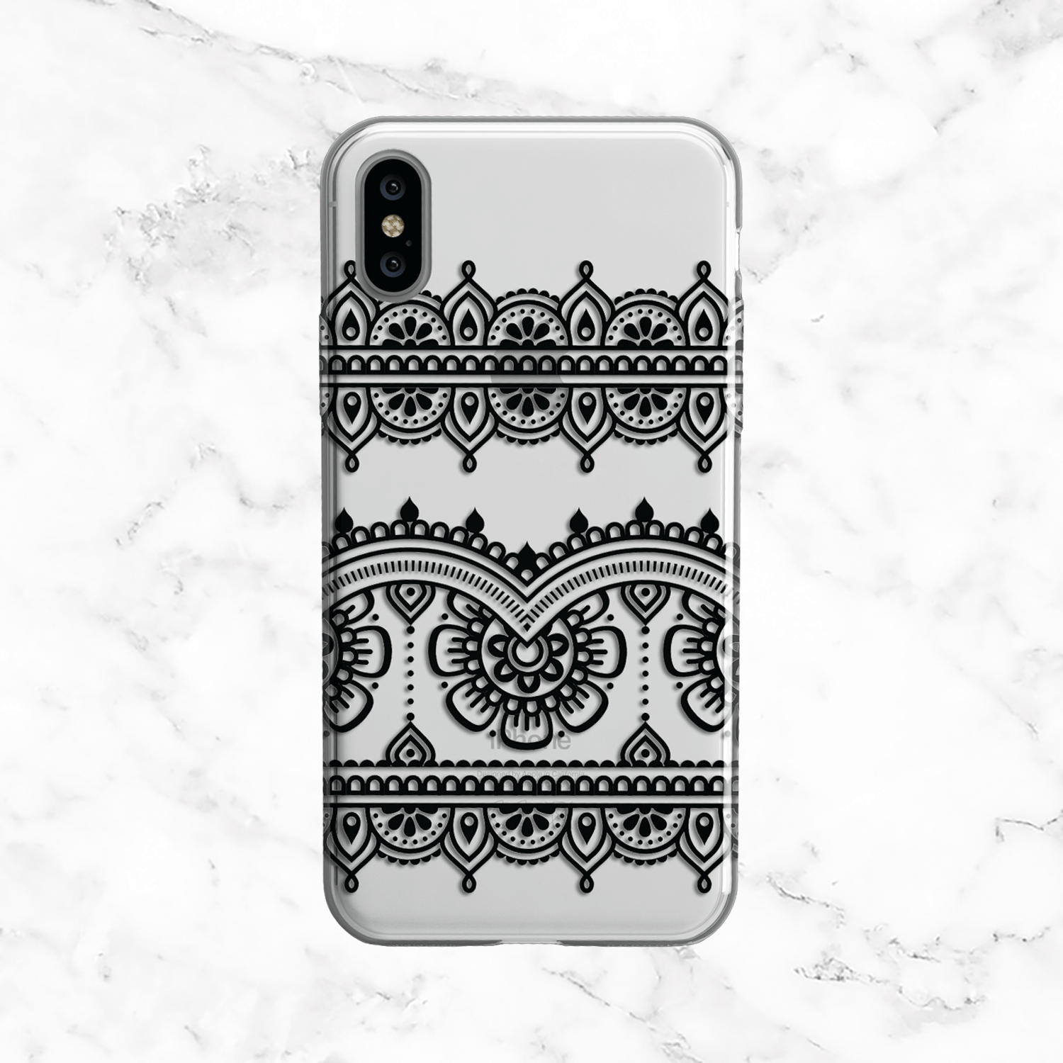 Black Henna Lace Phone Case