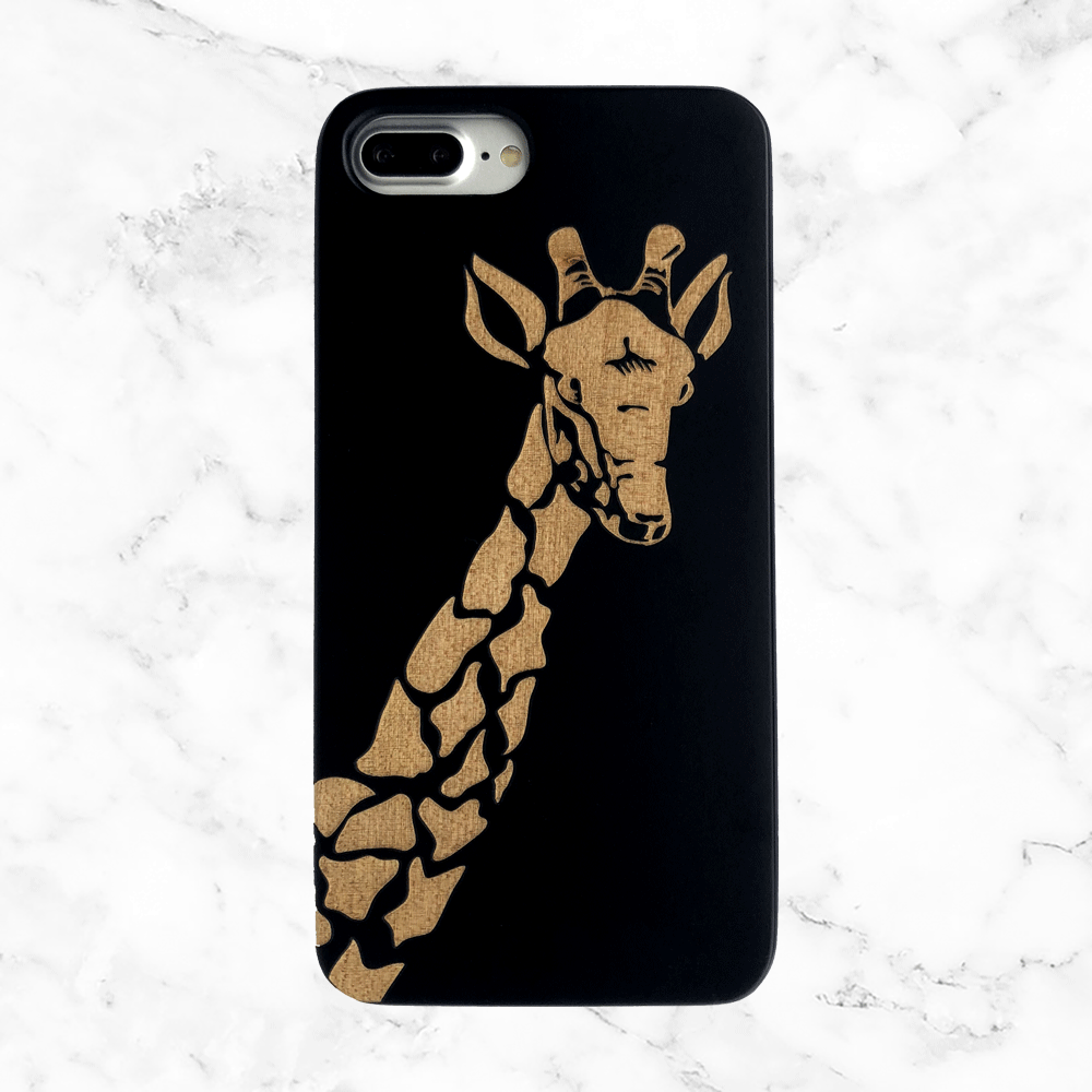 Giraffe Wood Phone Case for iPhones and Galaxy Phones