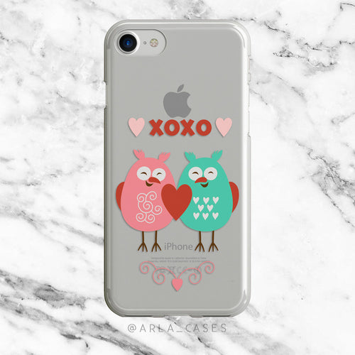 Love Birds on Clear Printed iPhone Case